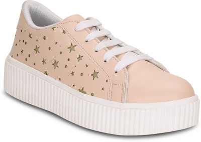 Get Glamr Tam Platform Sneakers For Women(Pink)