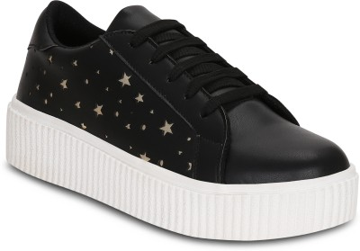 Get Glamr Tam Platform Sneakers For Women(Black)