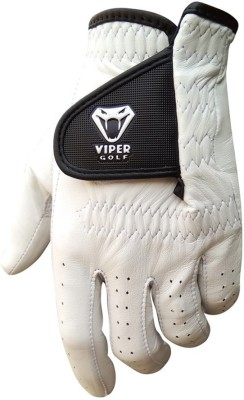 Viper Golf TourTuf Cabretta Leather Golf Gloves (S, White)