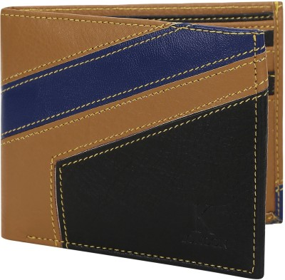 VERITE Men Blue Genuine Leather Wallet(4 Card Slots)