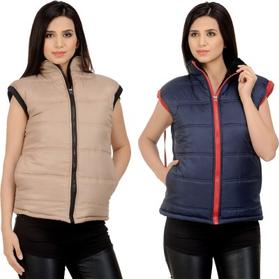Candy House Sleeveless Solid Women's Jacket
