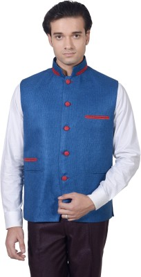Amafhh Sleeveless Solid Men's Nehru Jacket