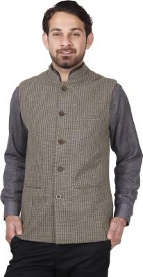 Dhrohar Sleeveless Checkered Men's Woolen Jacket