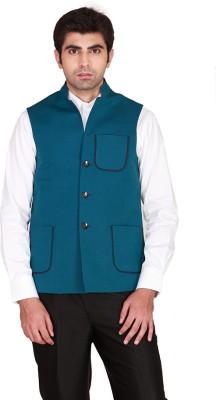 GIVO Sleeveless Solid Men's Nehru Linen Jacket