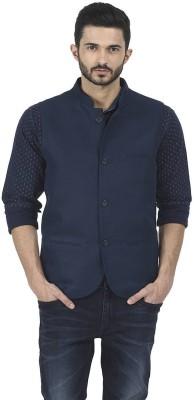 Basics Sleeveless Solid Men Jacket at flipkart
