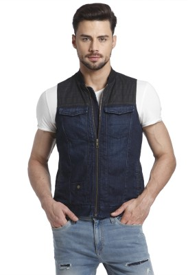 Jack & Jones Sleeveless Solid Men Jacket at flipkart