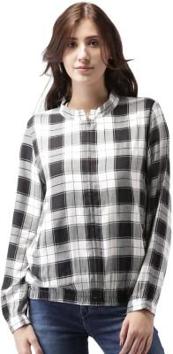 Mast & Harbour Full Sleeve Checkered Women Jacket at flipkart