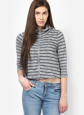 Only Full Sleeve Striped Women Jacket at flipkart