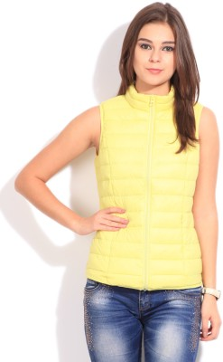 U.S. Polo Assn Sleeveless Solid Women Jacket at flipkart