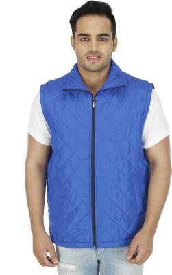 SOC Sleeveless Geometric Print Men's Jacket