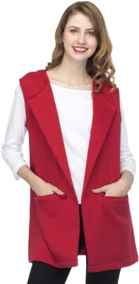 UrSense Sleeveless Solid Women Jacket UrSense Women's Jackets