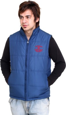 Trufit Sleeveless Solid Men's Bomber Jacket