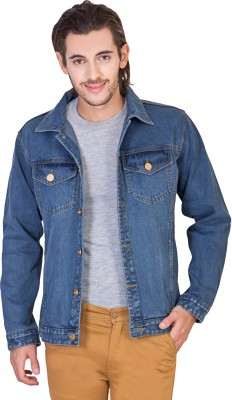 3% OFF on KROSSSTITCH Full Sleeve Solid Men s Denim Jacket on Flipkart  4f2fdb61757