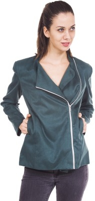9teen Again Full Sleeve Solid Women's Jacket at flipkart