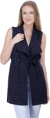 Oxolloxo Sleeveless Checkered Women Jacket at flipkart