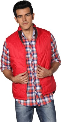 Provogue Sleeveless Solid Men Quilted Jacket at flipkart