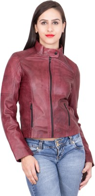 Justanned Full Sleeve Solid Women Jacket at flipkart