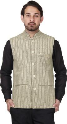 Dhrohar Sleeveless Striped Men's Woolen Jacket
