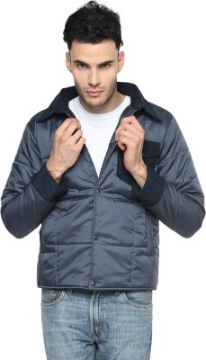 Campus Sutra Full Sleeve Solid Men Quilted Jacket