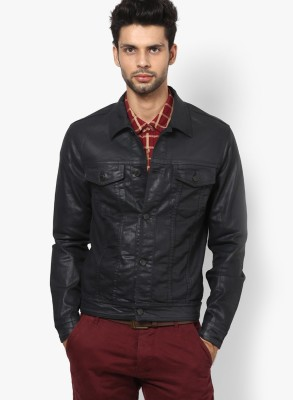 Jack & Jones Full Sleeve Solid Men Jacket at flipkart