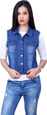 Gsa Enterprises Sleeveless Solid Women Denim Jacket