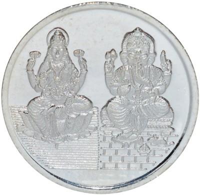 Kataria Jewellers Lakshmi Ganesha S 999 20 g Silver Coin Kataria Jewellers Coins   Bars