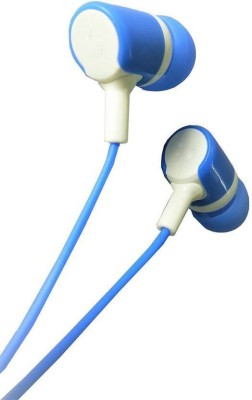 bs power EZ169 ( BLUE ) Wired Headset with Mic(Blue, In the Ear)