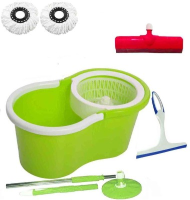 CREZON Magic Spin Cleaner Mop with 2 microfibers with kitchen wiper with Floor Wiper ((RANDOM COLOR SEND GREEN, PINK, BLUE, RED)) Home Cleaning Set  available at flipkart for Rs.931