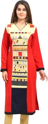 Style Diva Embroidered Women Straight Kurta(Multicolor)