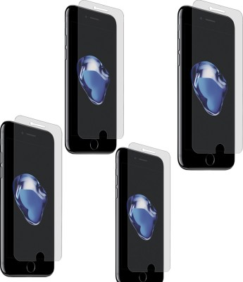Chappie Moustache Screen Guard for Apple Iphone 8(Pack of 4)