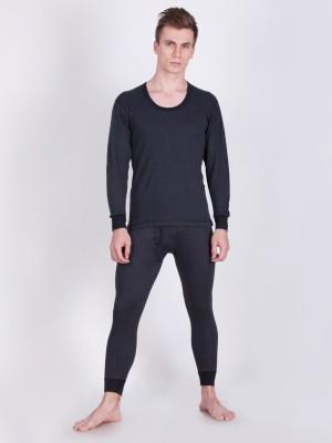 Lux Cottswool Blue Full Sleeves Round Neck Men Top - Pyjama Set Thermal