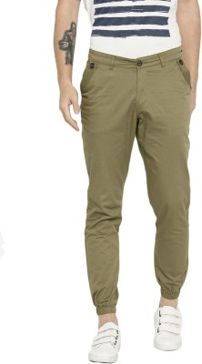 HRX by Hrithik Roshan Regular Fit Men Green Trousers at flipkart