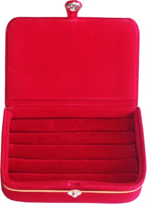 Funkroo Pack of 1 maroon ring folder Studs Tops jewelry cosmetic case Vanity Box makeup Vanity Box(Maroon)  available at flipkart for Rs.137