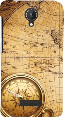 Snapdilla Back Cover for Micromax Canvas Spark Q380(Vintage Ancient Old Golden Compass Globe Map British Mobile Pouch)