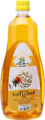24 Mantra Organic Safflower Oil 1 L Plastic Bottle