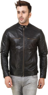 Rocker Fashions Full Sleeve Solid Men Riding  Jacket at flipkart