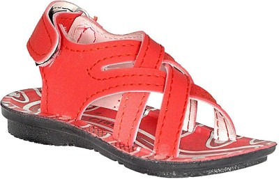 Leon Boys Velcro Sports Sandals(Red)