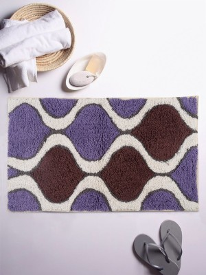 Romee Cotton Bathroom Mat(Blue/Black, Free) at flipkart
