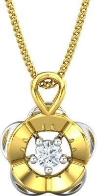 JewelHub JPT1824 18kt Diamond Yellow Gold Pendant JewelHub Pendants   Lockets