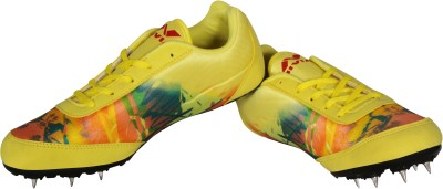 Nivia Zion -1 Spikes Running Shoes For Men(Yellow)  available at flipkart for Rs.719