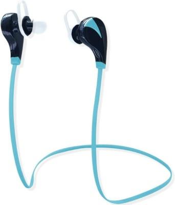 SUNLIGHT TRADERS Wireless Bluetooth Original Earphones with Mic, Sweatproof Sports Headset, Stereo Sound Quality  Blue 2 Smart Headphones Wireless