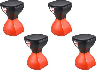 Action Ware Pinakin Stool Foldable Red & Black (Pack of 4) BY SARANGWARE Living & Bedroom Stool  (Red)