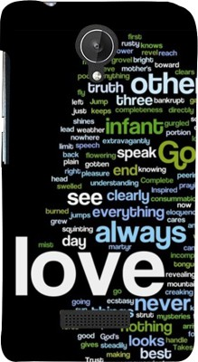 Snapdilla Back Cover for Micromax Canvas Spark Q380(Black Background Love Always Good Words Best Impressive Mobile Pouch)