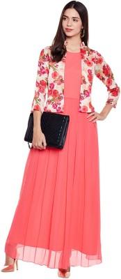 Athena Women's Maxi Pink Dress