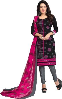 Drapes Cotton Printed Salwar Suit Dupatta Material(Un-stitched)