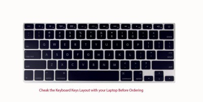 Saco Apple Macbook Pro Intel Core i7 - 15.4 inch Laptop Keyboard Skin(Transparent, Black)  available at flipkart for Rs.355