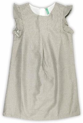 United Colors of Benetton Girls Midi/Knee Length Casual Dress(Beige, Cap Sleeve) at flipkart