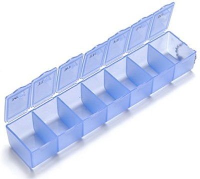 HUNTING HOBBY Capsules, Vitamin Tablets, Electronic Components Storage, Electronic Parts Store Hardware Screw Nut, Home Repair Small Parts, Jewellry Store Box-1 Manual 7 Grid Box Organizer-Tablets, Pills(Blue)  available at flipkart for Rs.153