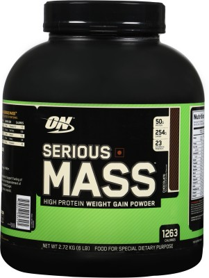 Optimum Nutrition Serious Mass Weight Gainers/Mass Gainers(2.72 kg, Chocolate)