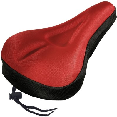 ShivExim Gel Seat Bicycle Bicycle Seat Cover Free Size(Red)